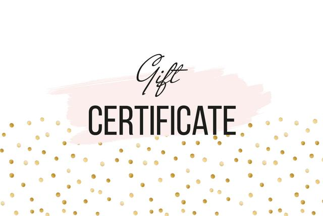 Plantilla de diseño de Cosmetics Offer on golden glitter Gift Certificate