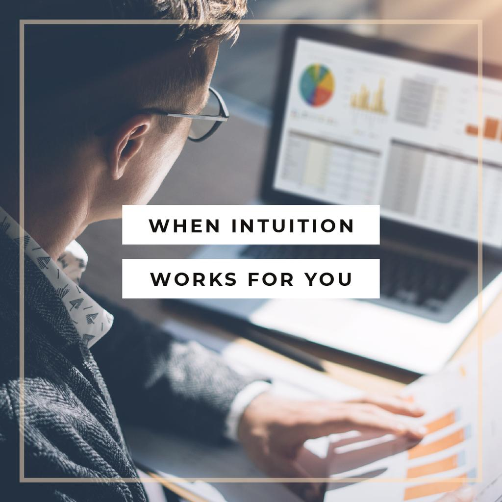 When intuition works for you — Créer un visuel