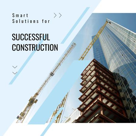 Plantilla de diseño de Real Estate Solution with Construction Site Animated Post
