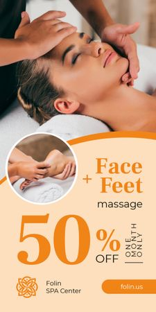 Plantilla de diseño de Massage Therapy Offer Woman at Spa Graphic