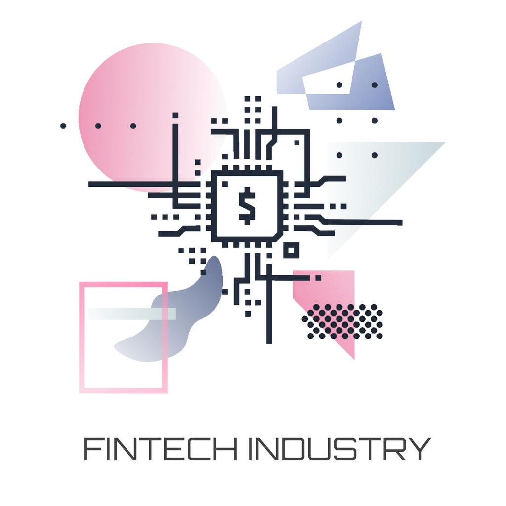 Fintech Industry with dollar Sign — Создать дизайн