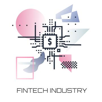 Fintech Industry with dollar Sign
