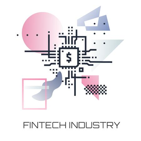 Ontwerpsjabloon van Animated Post van Fintech Industry with dollar Sign