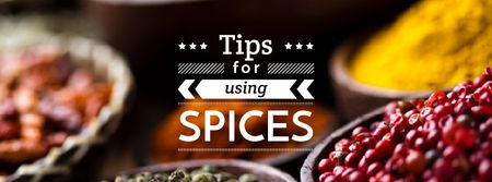 Tips for using Spices with peppers Facebook cover Modelo de Design