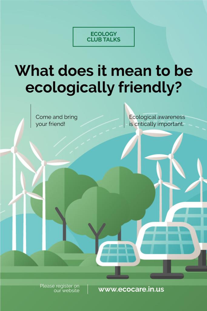 Advertisement of ecology club meeting — Crea un design