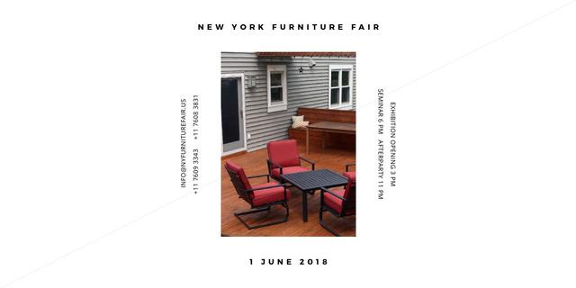 Plantilla de diseño de New York Furniture Fair Twitter