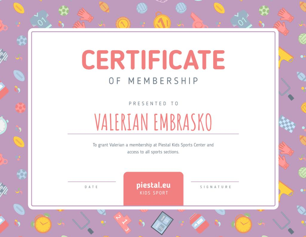 Kids Sport Center Membership confirmation — Crea un design