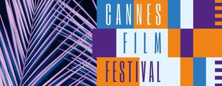 Template di design Cannes Film Festival Facebook cover