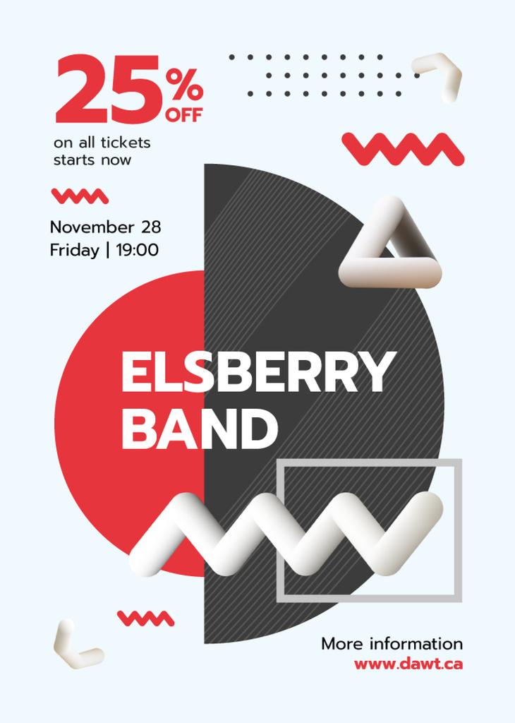 Band Concert Announcement Minimalistic Elements | Flyer Template — ein Design erstellen