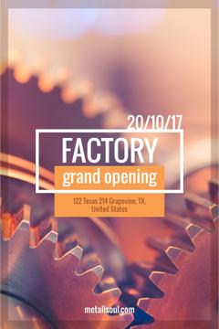 Factory Opening Announcement Mechanism Cogwheels | Pinterest Template