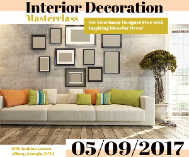 Modèle de visuel Interior decoration masterclass - Medium Rectangle