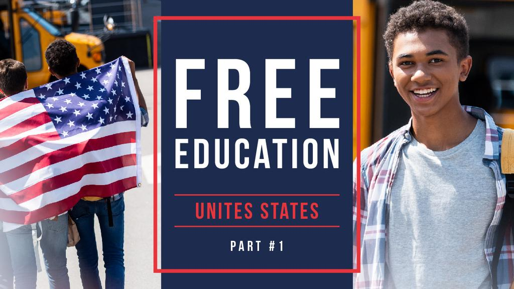Free Education Guide Smiling Students — Створити дизайн