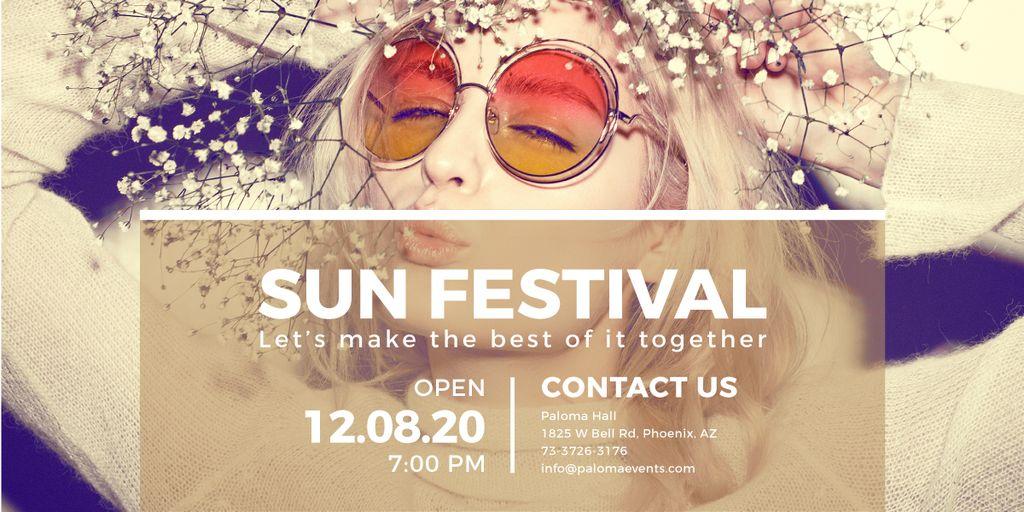 Sun festival advertisement banner — Crear un diseño