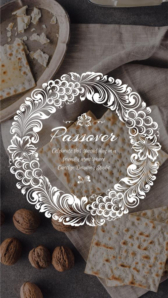 Passover Holiday Dinner Table | Vertical Video Template — Créer un visuel