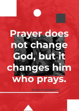Religion citation about a prayer