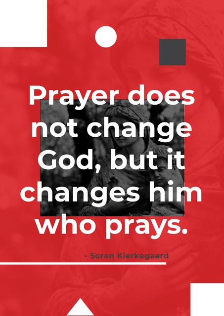 Modèle de visuel Religion citation about a prayer - Poster
