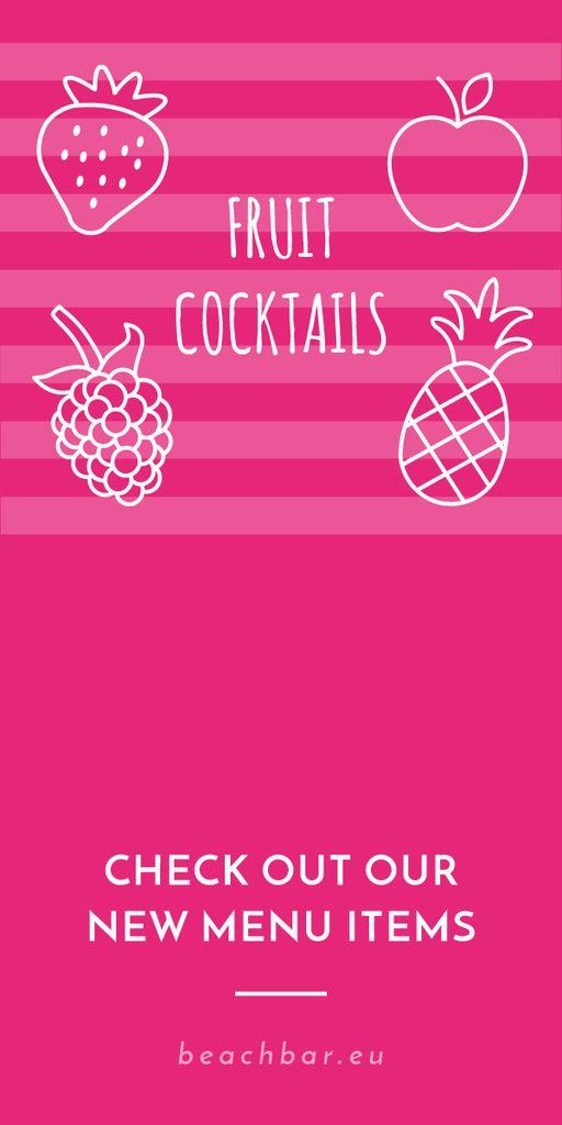 Fruit cocktails banner — Create a Design