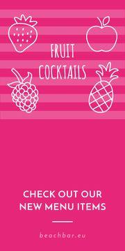 Fruit cocktails banner