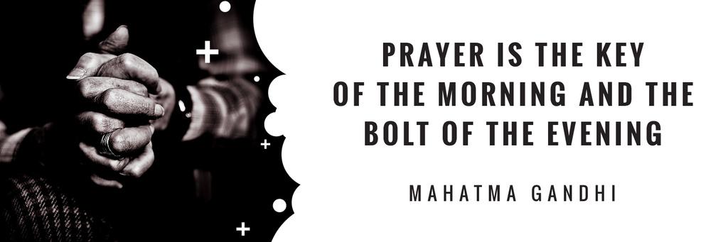 Template di design Faith Quote Hands Clasped in Prayer Twitter