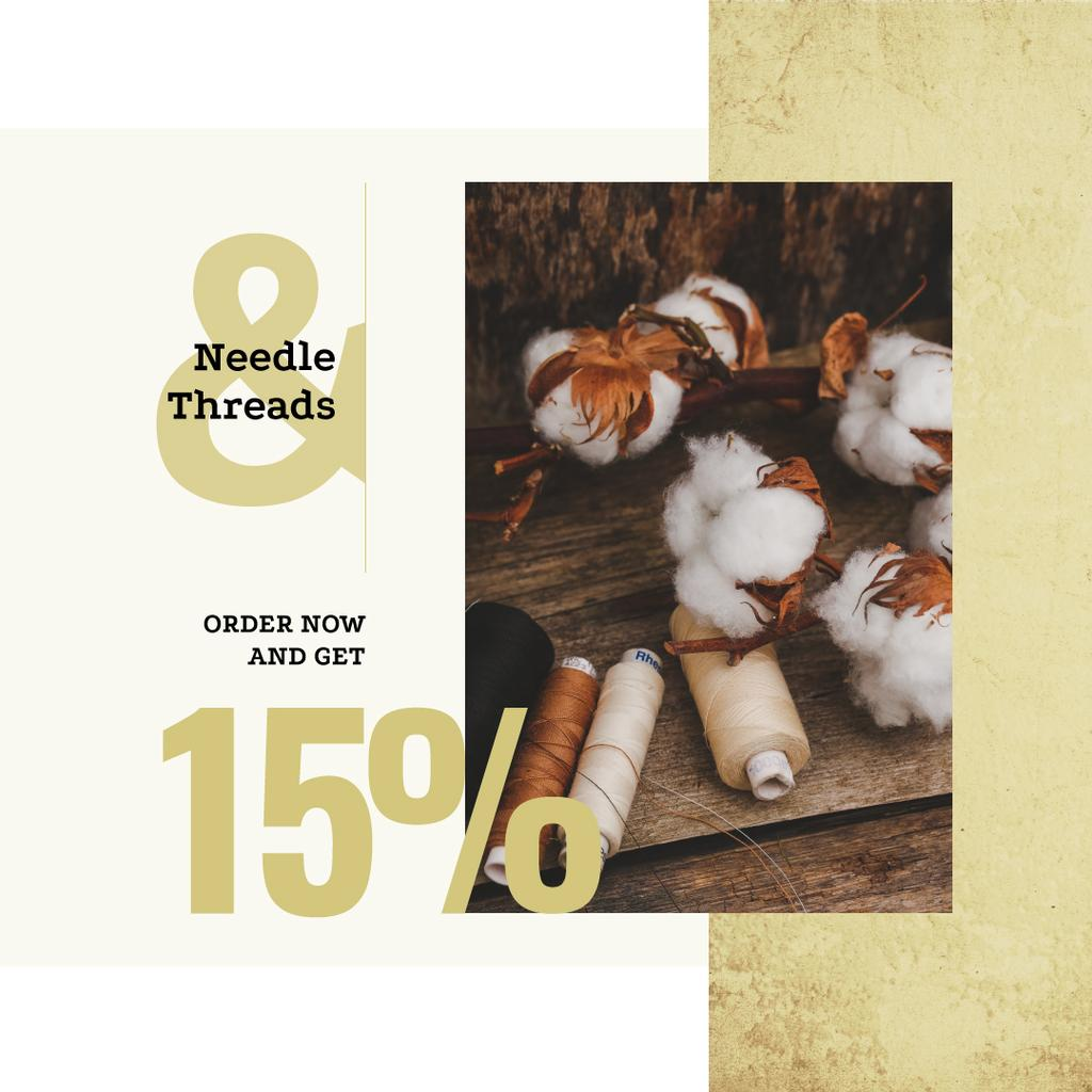 Cotton plant and Thread bobbins offer — Créer un visuel