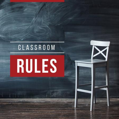 Ontwerpsjabloon van Instagram van Classroom rules with Chair