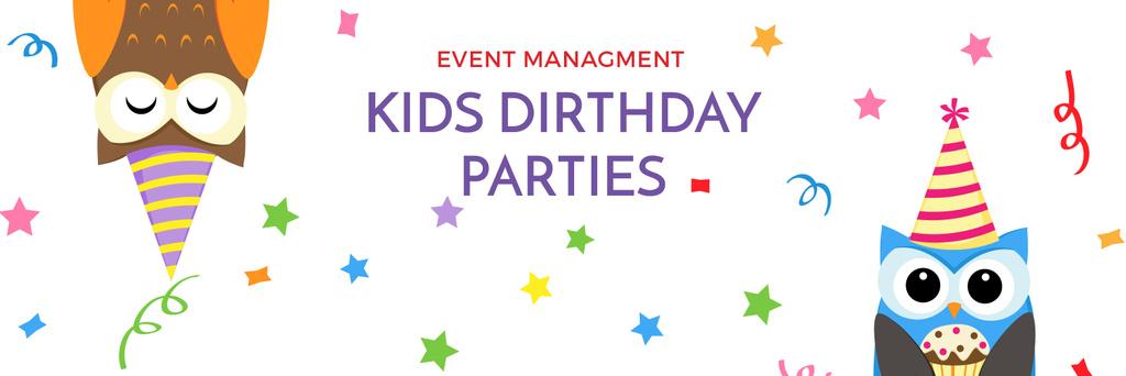 Birthday Invitation with Party Owls — Створити дизайн