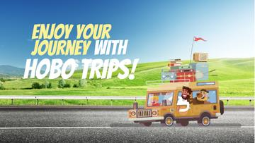 Journey Offer Happy Family Travelling by Car