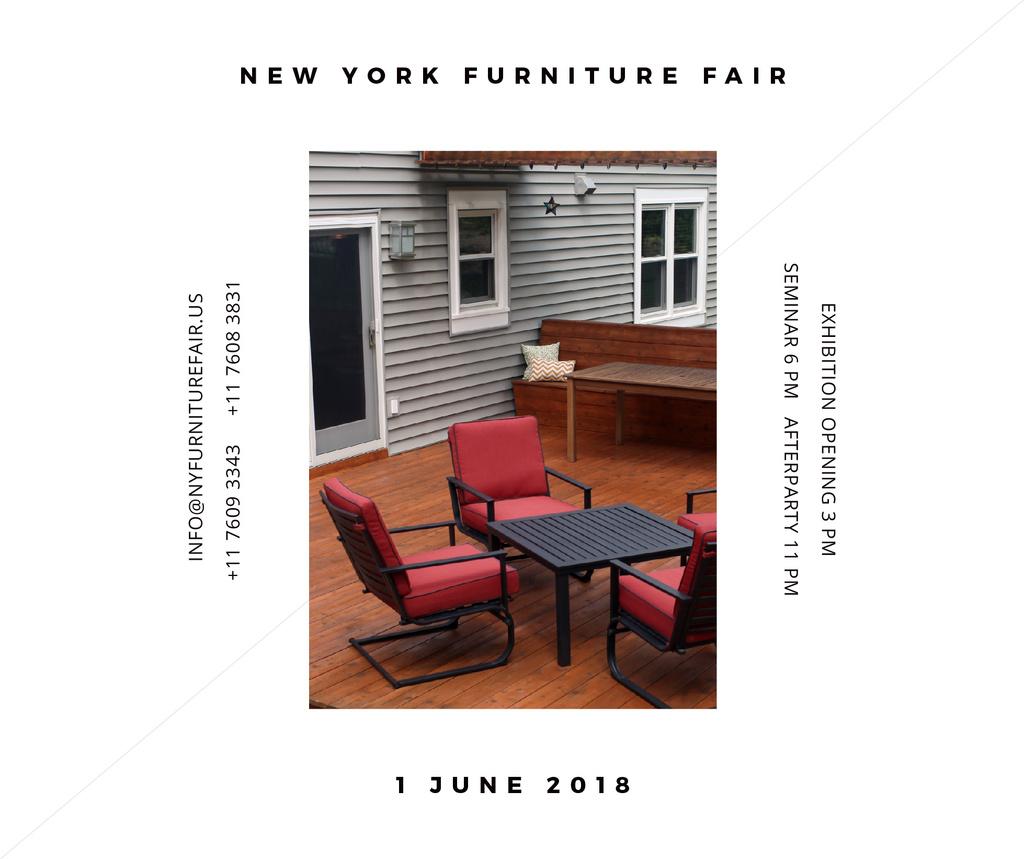 New York Furniture Fair announcement Facebook – шаблон для дизайна