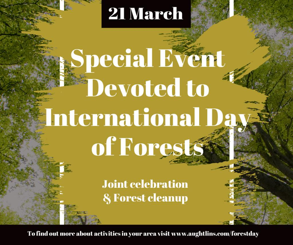 International Day of Forests Event Tall Trees | Facebook Post Template — Modelo de projeto