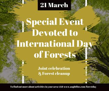 International Day of Forests Event Tall Trees | Facebook Post Template