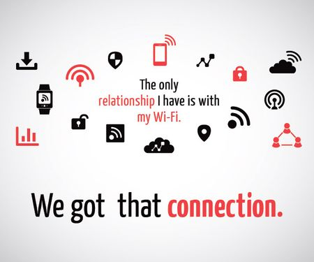 Ontwerpsjabloon van Medium Rectangle van Wi-fi connection poster