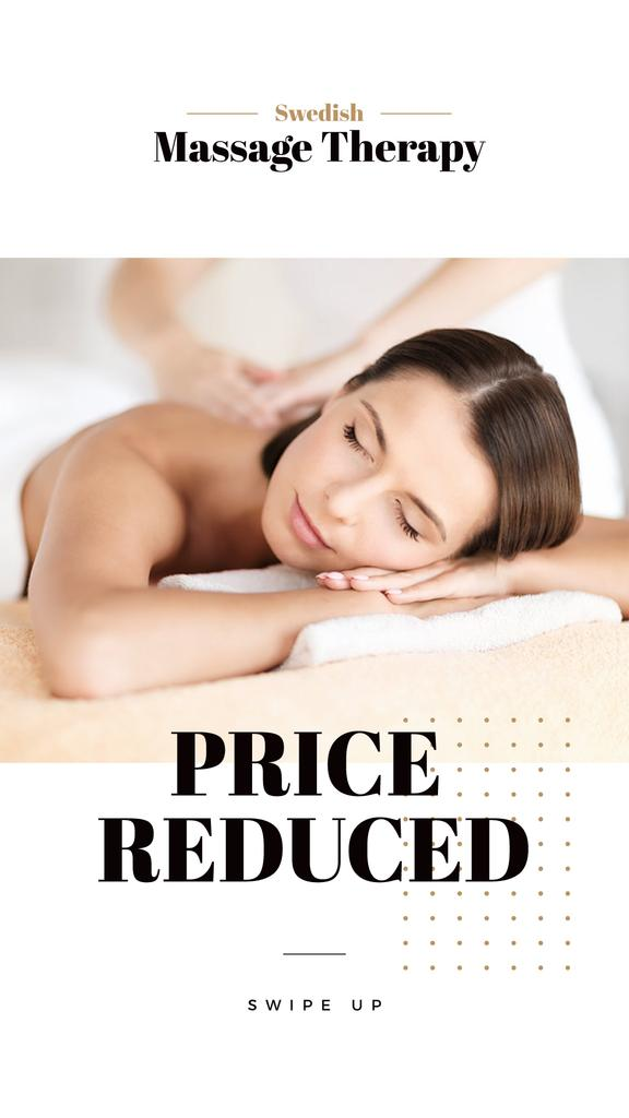 Massage Offer with Woman on Therapy session — Crear un diseño