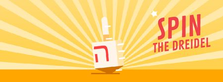 Spinning dreidel on Hanukkah  Facebook Video cover Modelo de Design