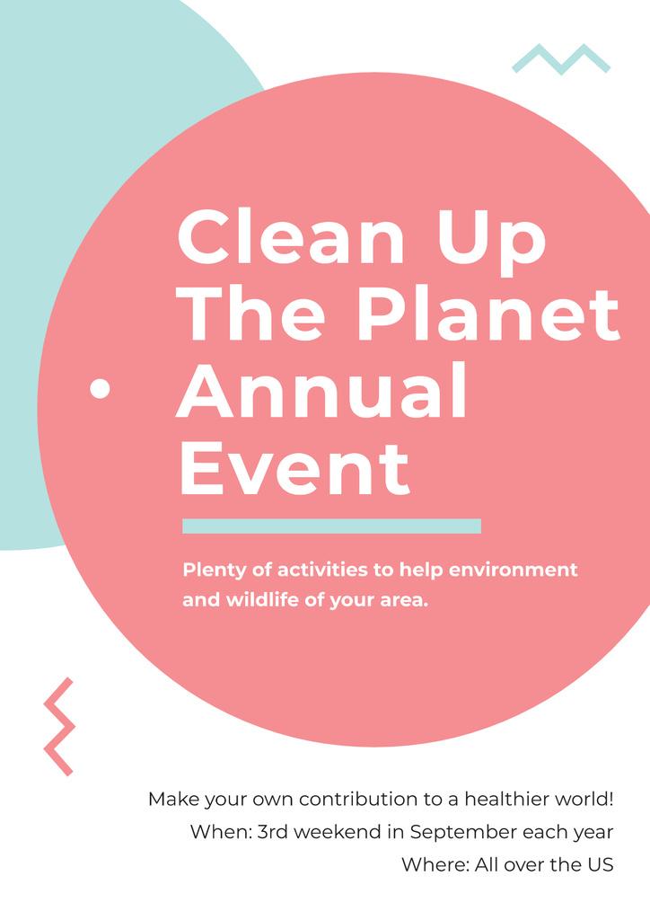 Modèle de visuel Clean up the Planet Annual event - Poster