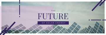 Energy Supply Solar Panels in Rows | Email Header Template