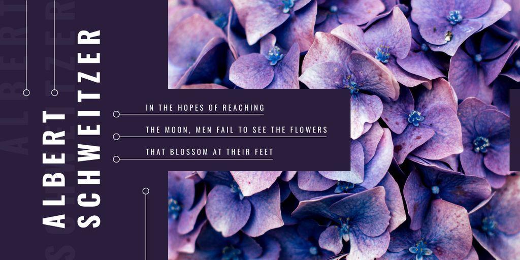 Blue hydrangea flowers — Crear un diseño