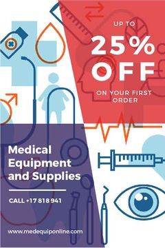 Medical equipment and supplies sale banner