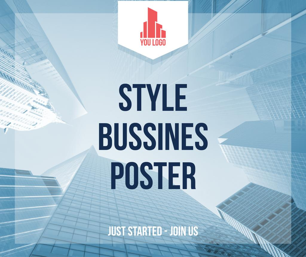 Style business poster — Створити дизайн