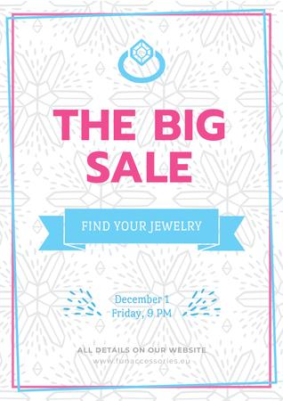 Jewelry big Sale Advertisement Poster Modelo de Design