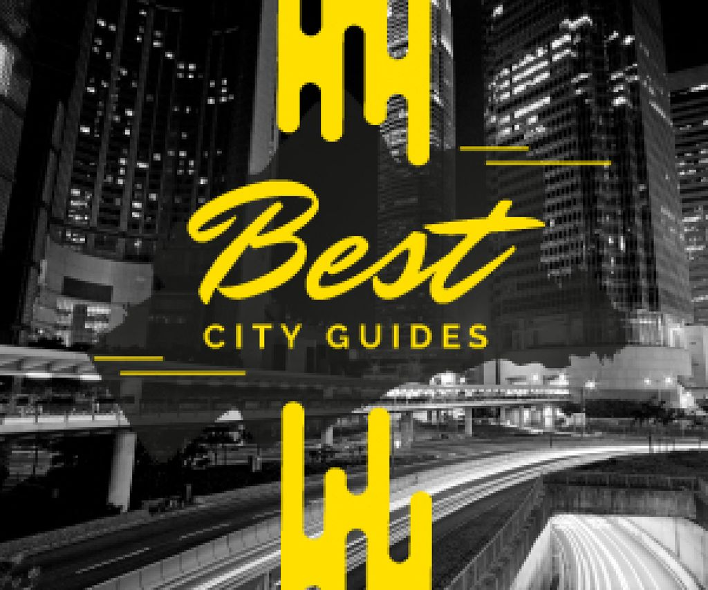 City Guide Night Traffic Lights | Medium Rectangle Template — Создать дизайн