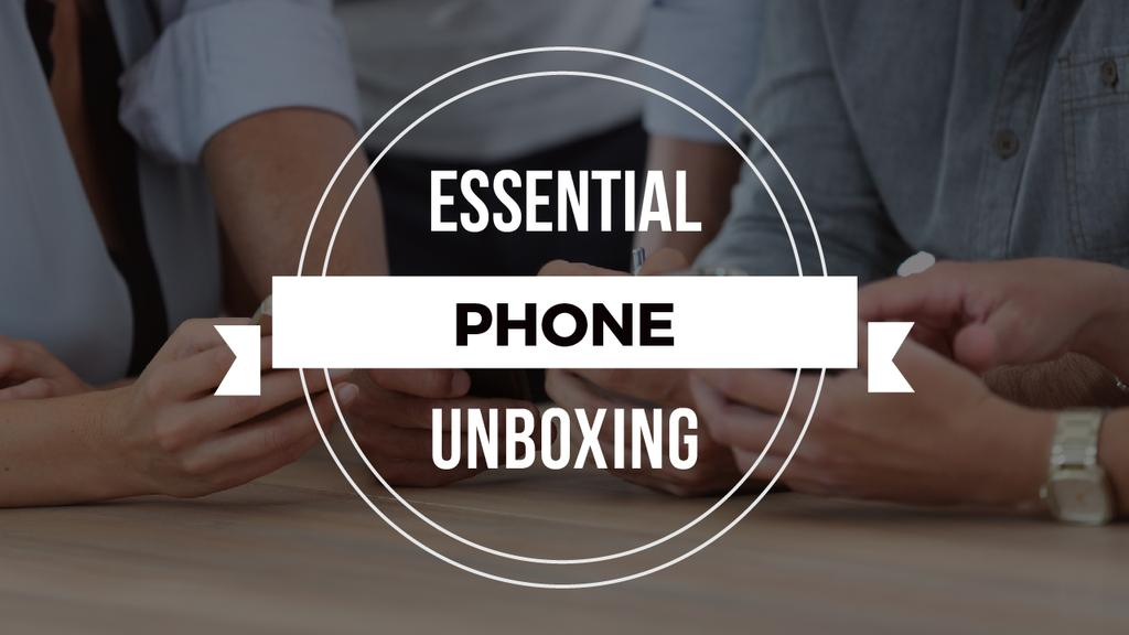 Unboxing Promotion People with Smartphones — ein Design erstellen
