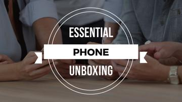 Unboxing Promotion People with Smartphones | Youtube Thumbnail Template