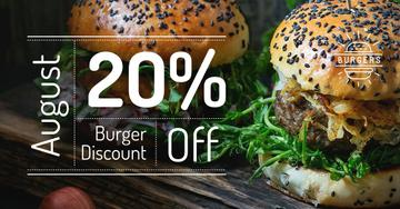 Burger discount Offer with two Tasty Burgers