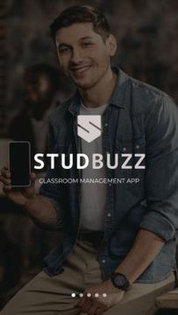 Education App promotion Mobile Presentation Πρότυπο σχεδίασης