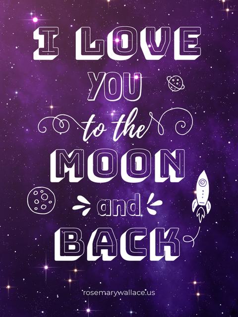 Plantilla de diseño de Motivational Love Quote on Night Sky Poster US