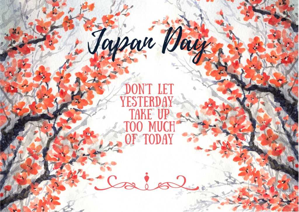 Japan day invitation with cherry blossom — Créer un visuel