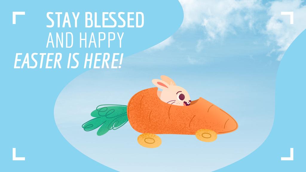 Bunny riding carrot car — Create a Design