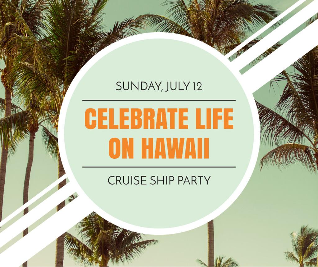 Hawaii Trip Offer with Palm Trees — ein Design erstellen