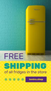 Sale Offer Yellow Fridge by Blue Brick Wall | Stories Template