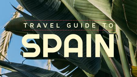 Template di design Travel Guide Palm Leaves in Green Youtube Thumbnail